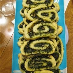 Spinach and Mushroom Pinwheels Recipe