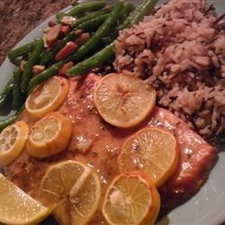 Photo of Honey-Mustard Salmon Fillet with White Wine Sauce by Don