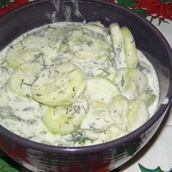 Mizeria (Polish Cucumber Salad) Recipe