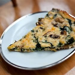 Crustless Spinach and Mushroom Quiche Recipe