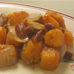 Butternut Squash with Onions and Pecans