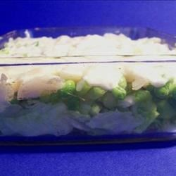 Layered Baby Pea Salad Recipe
