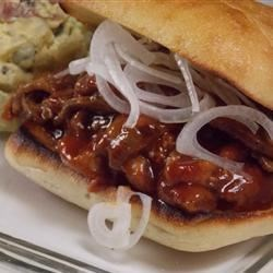 Sticky Beef Sandwich Recipe