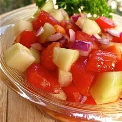 Tomato Cucumber Onion Salad Recipe