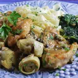 Chicken Piccata with Artichoke Hearts Recipe