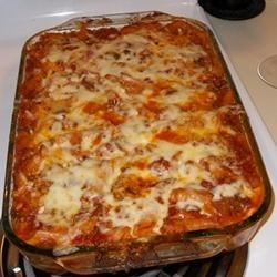 Layered Spinach Mostaccioli Recipe