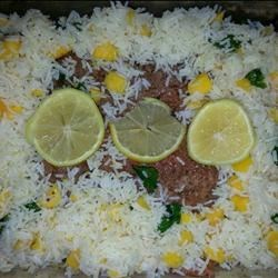 Baked Salmon with Tropical Rice Recipe