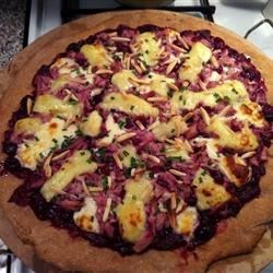 Chicken and Cranberry Pizza with Brie and Almonds Recipe