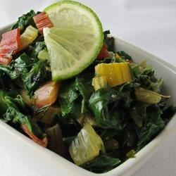 Swiss Chard Sauteed with Lime Recipe