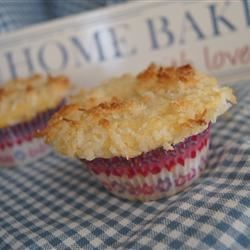 Cousin Jo's coconut and white choc muffins