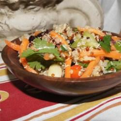 Cranberry and Cilantro Quinoa Salad
