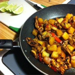 Chicken Pineapple Fajitas Recipe