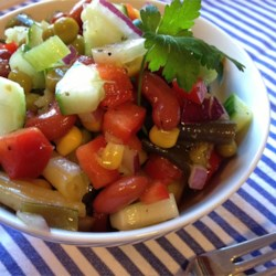 Grandma's Sweet and Tangy Bean Salad