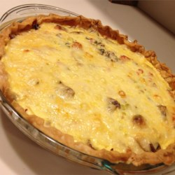 Ham and Wild Rice Quiche Recipe