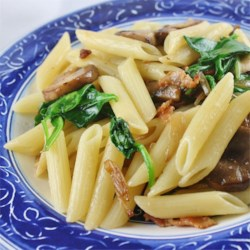 Holy Smoked Bacon and Mushroom Penne Recipe