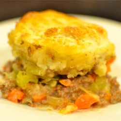 Hamburger Biscuit Casserole