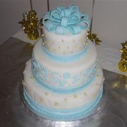 Coconut Cream Wedding cake