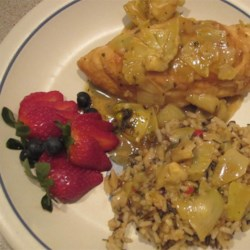Lemony Chicken with Artichoke Hearts