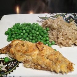 Broiled Parmesan-Lemon Tilapia  Recipe