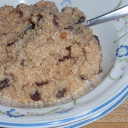 Quinoa Prune Breakfast Porridge