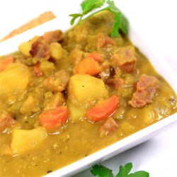 Wintertime French Style Split Pea Soup Recipe