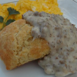 Creamy Biscuits and Gravy