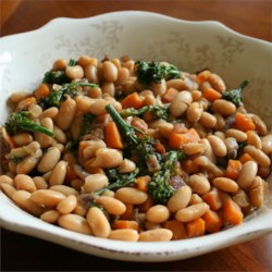 Maple Cannellini Bean Salad with Baby Broccoli and Butternut Squash Recipe