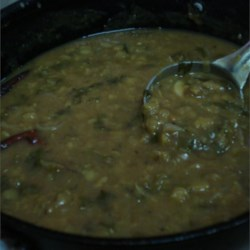 Aaku Pappu (Dal with Greens) Recipe