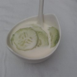 Cucumbers with Dressing
