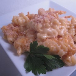 Baked Mac-N-Cheese (with Alfredo)