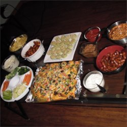 Nachos,Wings,CocktailSausage,Pinwheels,Veggies,Chips, Pretzels & Dips