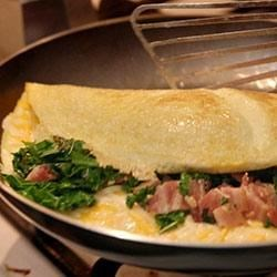 Creamy Kale Omelet a la Villere Recipe