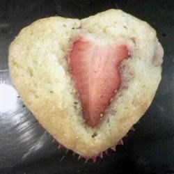Valentine's Day Strawberry Muffins