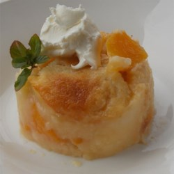 My Bottom-Up Peach Cobbler