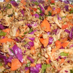 Spicy Chicken and Spelt Salad