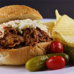 Slow Cooker Barbequed Pork for Sandwiches Recipe