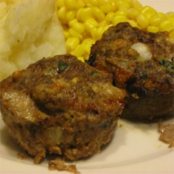 Blue Cheese, Spinach Meat Loaf Muffins