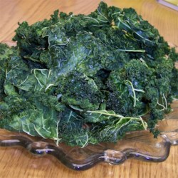 Baked Kale from the dehydrator