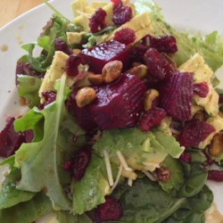 Roasted Beet, Avocado and Pistachio Salad Recipe