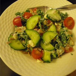 Greek Kale Tomato Salad