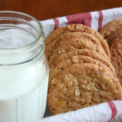 ginger touched oatmeal peanut butter cookies printer friendly