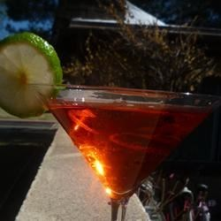 Tres Chic Pomegranate Martini