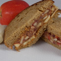 P-nutty Fruit Salad Sandwich