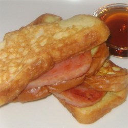 French Toast and Spam Sandwiches
