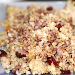 Bulgur Wheat with Dried Cranberries Recipe