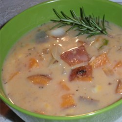 Creamy Vegan Sweet Potato and Corn Chowder   Recipe