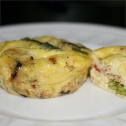 Asparagus Mushroom Bacon Crustless Quiche