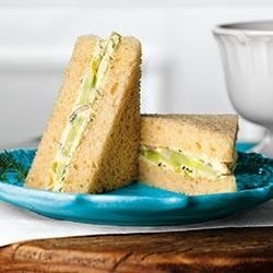 Cucumber and Dill Finger Sandwiches