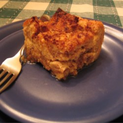 A serving of Joey's bread pudding