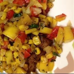 Blackened Tuna Steaks with Mango and Roasted Corn Salsa